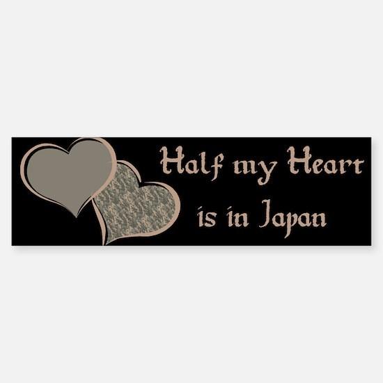 Half my Heart is in Japan Bumper Bumper Bumper Sticker
