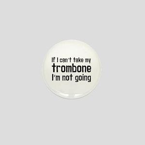 Funny Trombone Mini Button