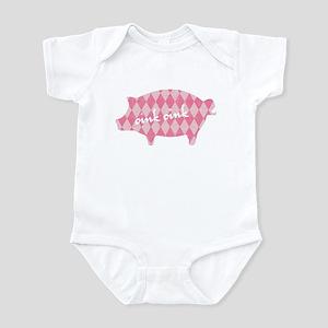 Pink pig oink oink Infant Bodysuit