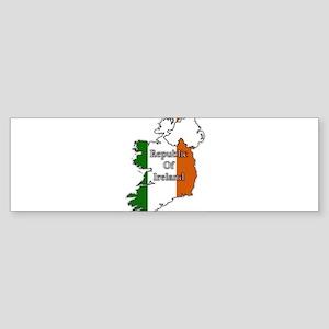 Republic Of Ireland Flags In Maps Bumper Sticker