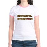 Not Your Fault Jr. Ringer T-Shirt