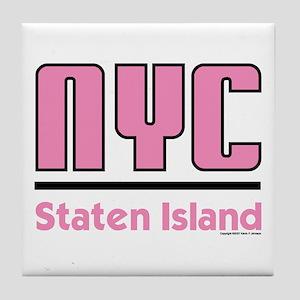 New York City Pink Tile Coaster