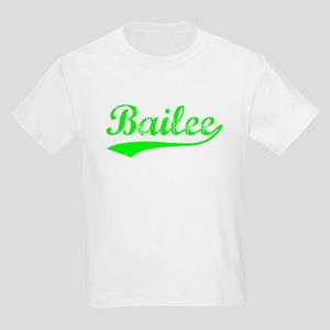 Vintage Bailee (Green) Kids Light T-Shirt