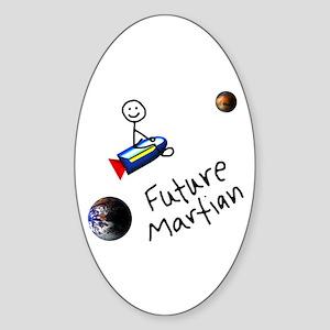 Future Martian Oval Sticker