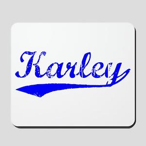 Vintage Karley (Blue) Mousepad