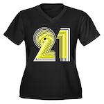 21st Women's Plus Size V-Neck Dark T-Shirt