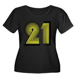 21st Women's Plus Size Scoop Neck Dark T-Shirt