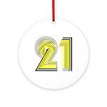 21st Ornament (Round)