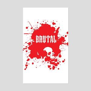 Brutal Blood Rectangle Sticker