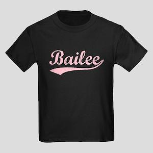 Vintage Bailee (Pink) Kids Dark T-Shirt