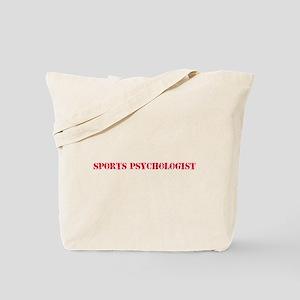Sports Psychologist Red Stencil Design Tote Bag