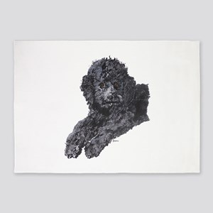 Toy Poodle 5'x7'Area Rug