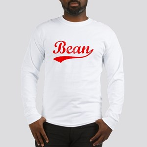 Vintage Bean (Red) Long Sleeve T-Shirt