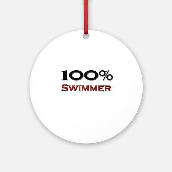 100 Percent Swimmer Ornament (Round)