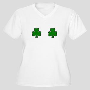 SHAMROCK CHEST Women's Plus Size V-Neck T-Shirt