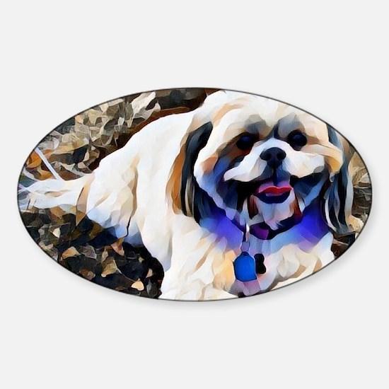 Cute Dogpark Sticker (Oval)