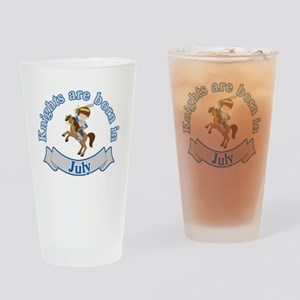 Knights Are Born In July Birthday Drinking Glass