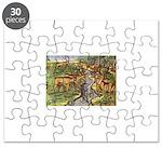Timucua Indians Hunt Deer Puzzle
