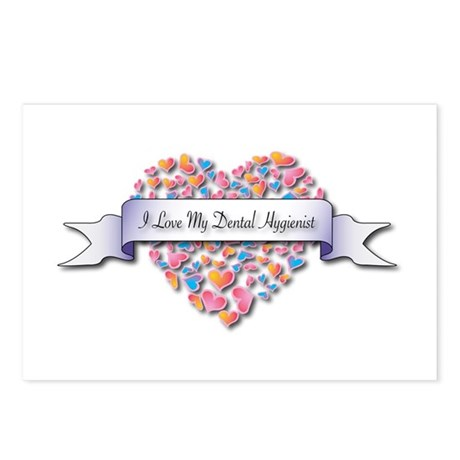 Love My Dental Hygienist Postcards (Package of 8)