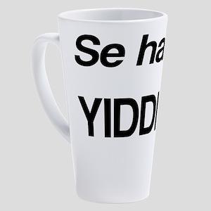 Se Habla Yiddish 17 oz Latte Mug