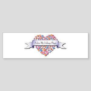 Love My Cribbage Player Bumper Sticker