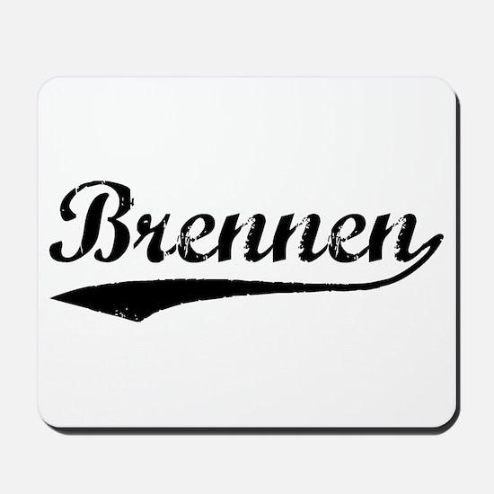 Vintage Brennen (Black) Mousepad