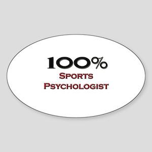 100 Percent Sports Psychologist Oval Sticker