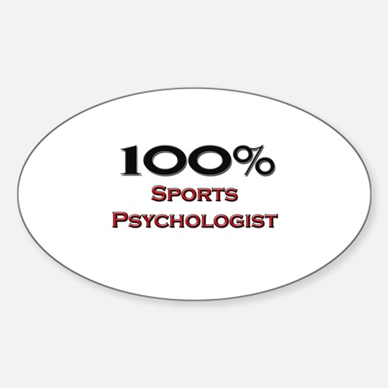 100 Percent Sports Psychologist Oval Decal