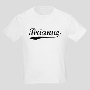 Vintage Brianne (Black) Kids Light T-Shirt