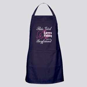 This Girl Loves Fishing With The Boyf Apron (dark)