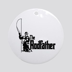 The Rodfather Fun Fishing Quote for Round Ornament