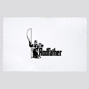 The Rodfather Fun Fishing Quote for hi 4' x 6' Rug