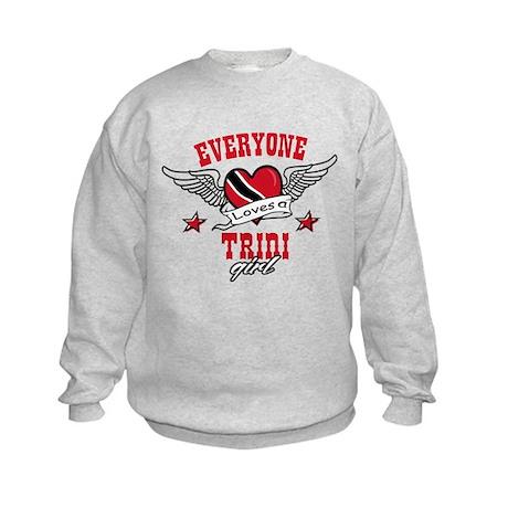 Everyone loves a Trini Girl Kids Sweatshirt