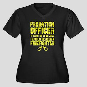 Probation Officer T Shirt, Firef Plus Size T-Shirt