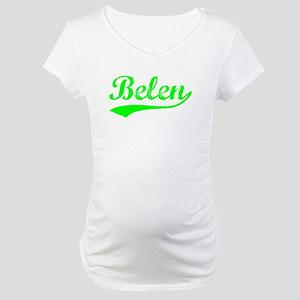 Vintage Belen (Green) Maternity T-Shirt