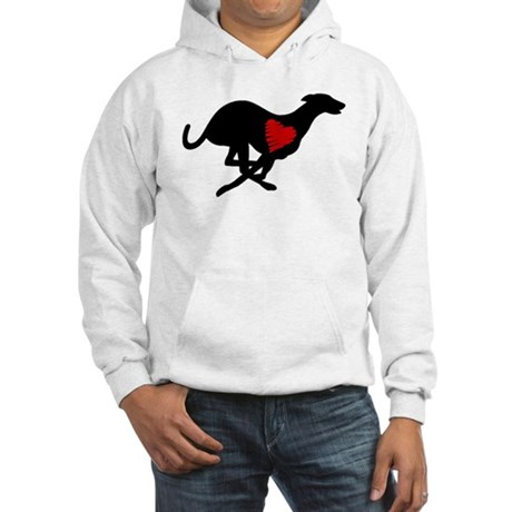 Greyhound Hoodie/Heart Hound