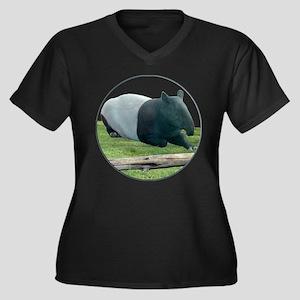 Helaine's Tapir Women's Plus Size V-Neck Dark T-Sh