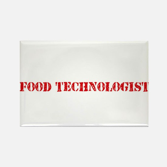 Food Technologist Red Stencil Design Magnets