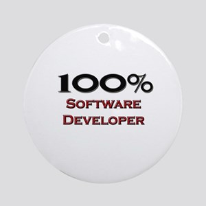 100 Percent Software Developer Ornament (Round)