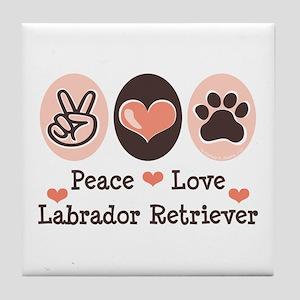 Peace Love Labrador Retriever Tile Coaster
