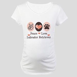 Peace Love Labrador Retriever Maternity T-Shirt