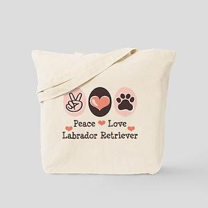 Peace Love Labrador Retriever Tote Bag