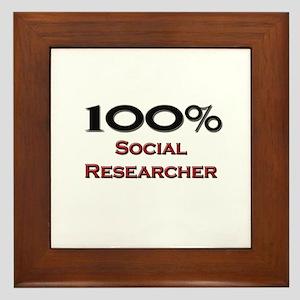 100 Percent Social Researcher Framed Tile
