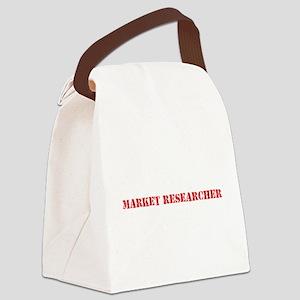 Market Researcher Red Stencil Des Canvas Lunch Bag