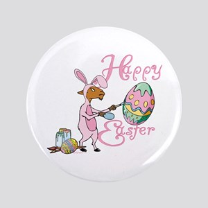 "Easter Egg Goat 3.5"" Button"