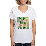 Fjord Horse Women's V-Neck T-Shirt