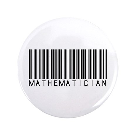 "Mathematician Barcode 3.5"" Button (100 pack)"