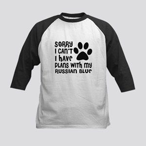 I Have Plans With My Russian Blu Kids Baseball Tee