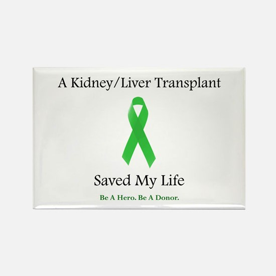 Kidney/Liver Transplant Rectangle Magnet