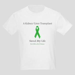 Kidney/Liver Transplant Kids Light T-Shirt